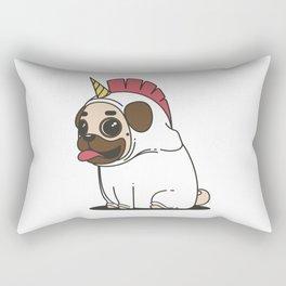 The Elusive Pugicorn Rectangular Pillow