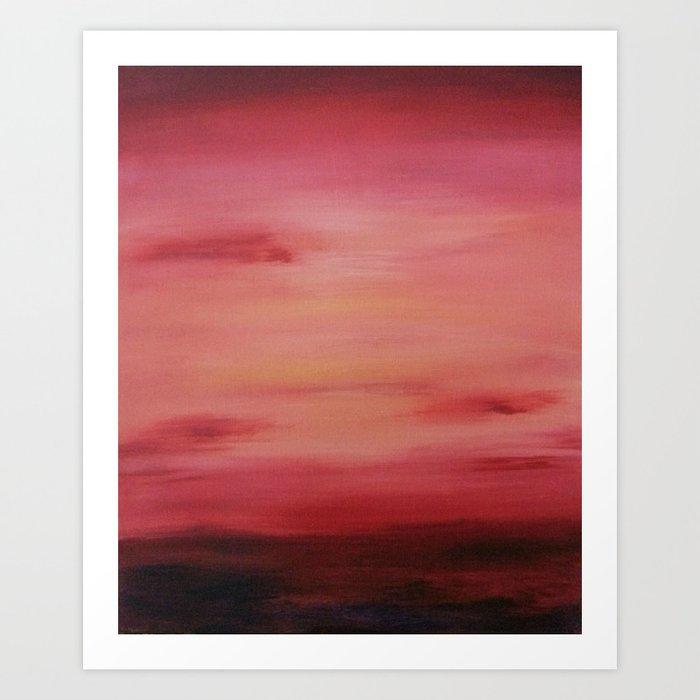 Red Evening Sky Art Print