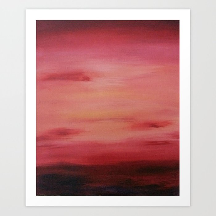 Red Evening Sky Art Print