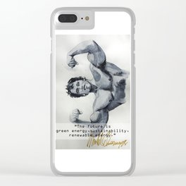 Arnold the ecologist Clear iPhone Case