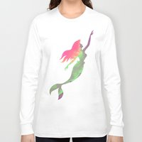 ariel Long Sleeve T-shirts featuring Ariel  by foreverwars