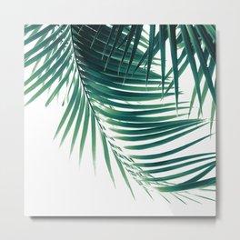 Palm Leaves Green Vibes #4 #tropical #decor #art #society6 Metal Print