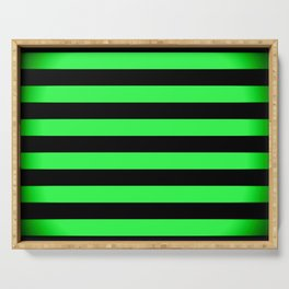Stripes Green & Black Serving Tray