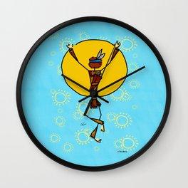 Spiritual dance Wall Clock