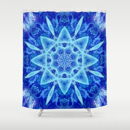 Ice Matrix Mandala Shower Curtain
