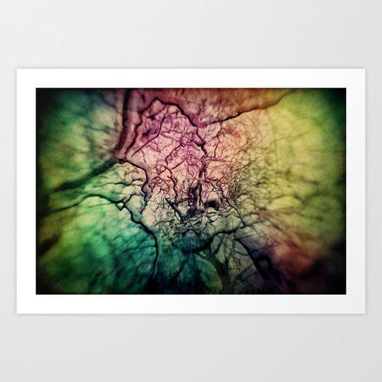 Rainbow Chaos Art Print