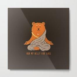 Buddha Bear Metal Print