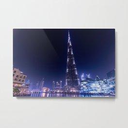 Burj Khalifa Skyscraper In Dubai Metal Print