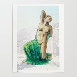 Dying Daughter of Niobe in Pompeii Poster