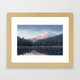 Mount Bachelor Sunrise Framed Art Print