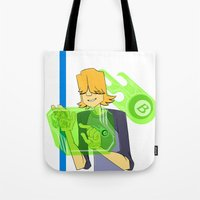 chuck Tote Bags featuring Burners Chuck by AbigailC
