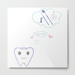 Clean Teeth Metal Print