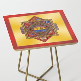 Meditation on Serenity (gradient gold) Side Table