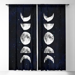 Phases of the Moon Galaxy Blackout Curtain