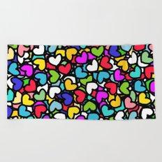 Rainbow LOVE Hearts Beach Towel