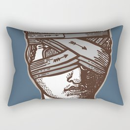 Wrapped Head Engraving Study Rectangular Pillow