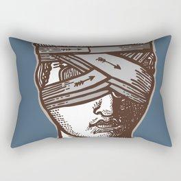 Wrapped Head Engraving Study Rectangular Pillow