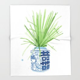 Ginger Jar + Fan Palm Throw Blanket