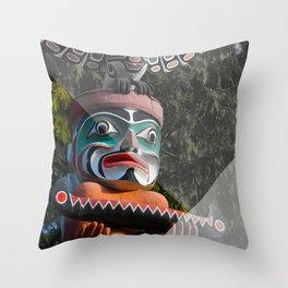 Geometric Totem Pole Throw Pillow