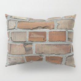 Vintage red brick wall texture Pillow Sham