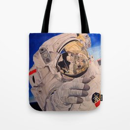 Astronaut in space, man. Tote Bag