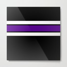 Team Colors...purple and white on black Metal Print