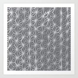 Japanese Tie Dye in Pebble Art Print