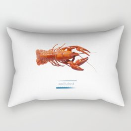 Polluted - Crawfish Lobster Rectangular Pillow