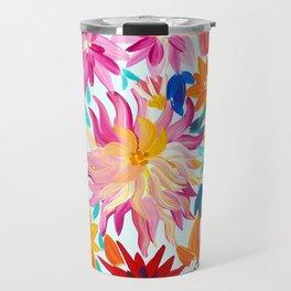 Daliahs and other Flowers Travel Mug