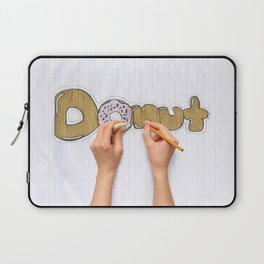 hands drawing a donut Laptop Sleeve