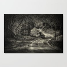 On The Road Again, BW Canvas Print