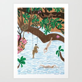 The Jungle Beach Art Print