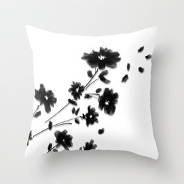 Large Daisy Design Throw Pillow