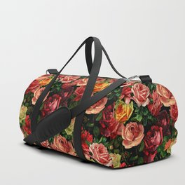 Vintage & Shabby chic - floral roses flowers rose Duffle Bag