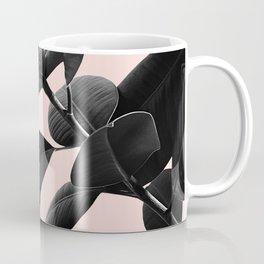 Ficus Elastica Blush Black & White Vibes #1 #foliage #decor #art #society6 Coffee Mug