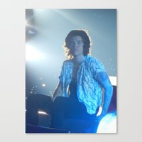 harry styles Canvas Prints featuring Harry Styles by Halle