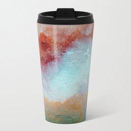 WaterColor MultiColor Print Metal Travel Mug