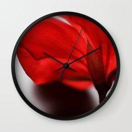 Scarlet Petals Wall Clock