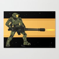 master chief Canvas Prints featuring Master Chief by Arnix