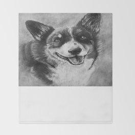 Dog Portrait Commission 2 Throw Blanket