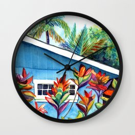Hanalei Cottage Wall Clock