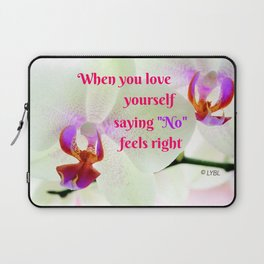 """No"" Feels right Laptop Sleeve"