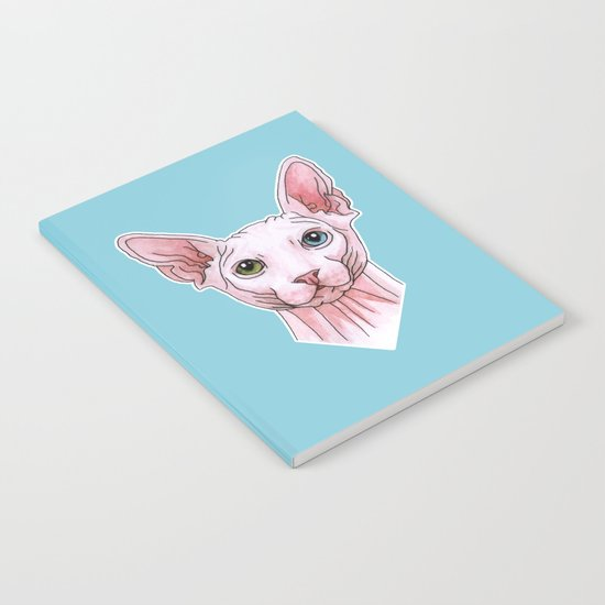 Sphynx cat portrait Notebook