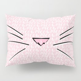 Crazy Cat Lady (Meow Meow Meow Pattern) Pillow Sham