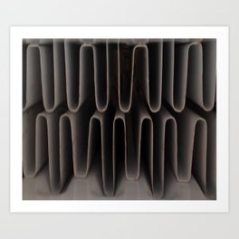 Industrial Waves | Metal Coils Abstract | Contemporary Art Art Print