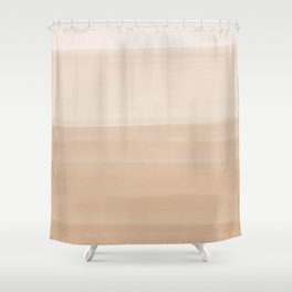 Touching Warm Beige Watercolor Abstract #1 #painting #decor #art #society6 Shower Curtain