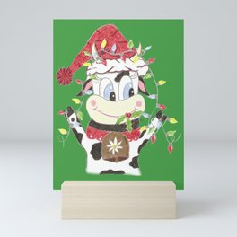 Snowbell and the Christmas lights Mini Art Print