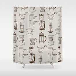 Brew Shower Curtain