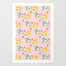 deerly pattern Art Print
