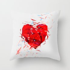 Fragile Heart Throw Pillow